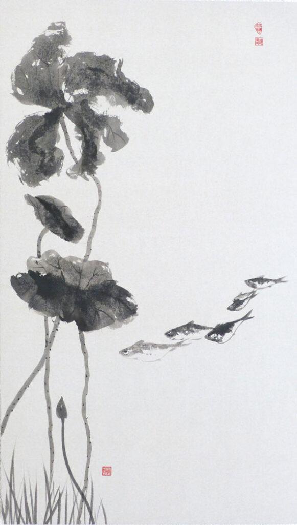 Bild Tuschemalerei